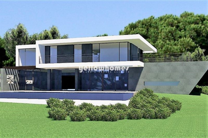 Building land with approved project with stunning sea views near Loule